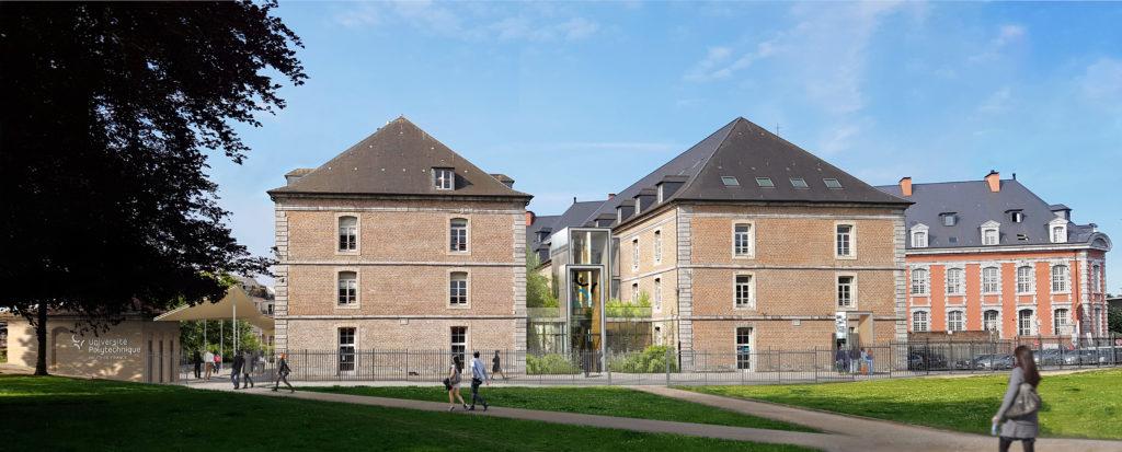 perspective 3D architecture concours universite polytechnique valenciennes 1